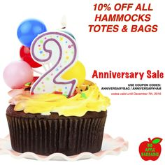 10% OFF #ANNIVERSARY SALE!  ALL #HAMMOCKS #TOTES & #BAGS ON SALE! We have great #gifts for anyone on your list!  www.BigAppleBargains.ca