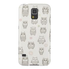 Pattern with owls galaxy s5 case