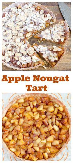 Apple Nougat Tart