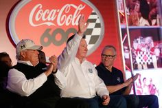 Rick Hendrick Photos Photos - (L-R)NASCAR Hall of Fame inductees Rick Hendrick, Richard Childress, and Mark Martin are introduced at the driver's meeting prior to the NASCAR Sprint Cup Series Coca-Cola 600 at Charlotte Motor Speedway on May 29, 2016 in Charlotte, North Carolina. - NASCAR Sprint Cup Series Coca-Cola 600