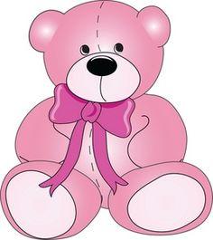 Teddy Bear Clipart Image: Cute stuffed Teddy bear