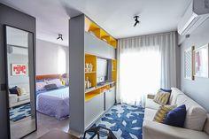 The Best 2019 Interior Design Trends - Interior Design Ideas Small Apartment Design, Studio Apartment Decorating, Small Apartments, Small Space Living, Small Rooms, 2 Living Rooms Design, Room Ideas Bedroom, Bedroom Decor, Studio Loft