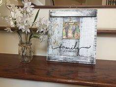 Rustic Pallet frame with quote- Family is forever, Home is where I am with you, Love you more, Chabby Chic decor, wall art, Picture frame by UpcycledWoodDesignUS on Etsy