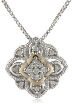 S Sterling Silver and 14k Yellow Gold Vintage Design with Diamond Accent Pendant Necklace, 18 Amazon Curated Collection,http://www.amazon.com/dp/B008DBIVN6/ref=cm_sw_r_pi_dp_obSzrb8C6D1642BE