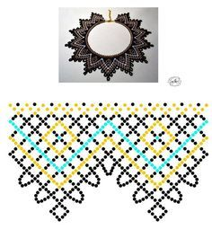 Natali Khovalko Diy Necklace Patterns, Beaded Jewelry Patterns, Beading Patterns Free, Beading Tutorials, Diy Jewelry Projects, Jewelry Crafts, Beadwork Designs, Beading Techniques, Bead Jewellery