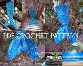Crochet Pattern for Mermaid Tail Photography Prop - Baby to Adult - Welcome to sell finished items. $5.00, via Etsy.