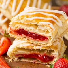 """@cookingclassy's photo: """"We polished off these Homemade Toaster Strudels in no time! They're so easy to make and I can't get enough of all those flaky layers! You may just find yourself squeezing the icing straight into your mouth. One dreamy breakfast treat! Recipe link in profile."""""""