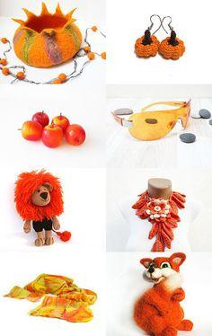 Orange festive by Neringa Neringaaa on Etsy