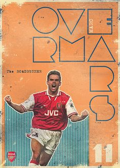 Legends Of Arsenal/Overmars Retro Football, Football Art, World Football, Arsenal Fc, Arsenal Football, Arsenal Wallpapers, Banners, Soccer Poster, Football Wallpaper