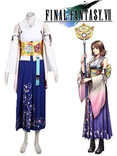 Pas cher Livraison Gratuite Final Fantasy x Yuna Prêtresse Uniforme Jeu Cosplay Costume, Acheter  Habits de qualité directement des fournisseurs de Chine:   Rendements de foudre: Final Fantasy XIII est une console action jeu de rôle vidéo jeu développé et