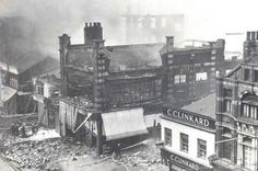 """Blitz in the Boro. I wasn't in the war but I was in that shoeshop. It survived and mam always took us to Clinkard's to get a """"good pair of shoes"""". I still wear Clarke's shoes and boots now. Old Pictures, Old Photos, Home History, Great North, Bonnie N Clyde, Middlesbrough, Documentary Photography, North Yorkshire, Boro"""