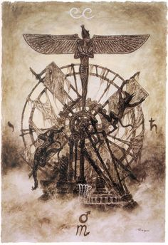 X. The Wheel Of Fortune by Luis Royo