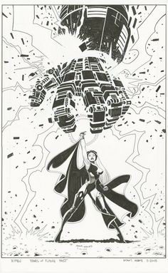 The Marvel Comics of the 1980s — Anatomy of a Cover - Years of Future Past #2 By...