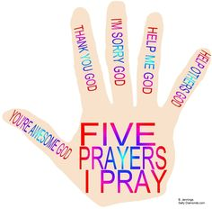 """SATELLITE: The Prayer Hand. Five prayers I pray. Free printable PDFs with prayer games that can move from one Bible story to another, as needed and as it applies. Example-The """"I'm Sorry, God"""" prayer (working on that) could be applied to Zacchaeus and Woman at Well. The Prayer Hand- FREE PDFs and more in future @ http://www.saltydiamonds.com/SatellitePrayer.html"""