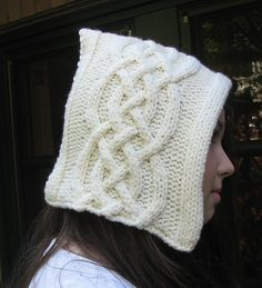 Celtic Cables Hood by Lynn Venghaus