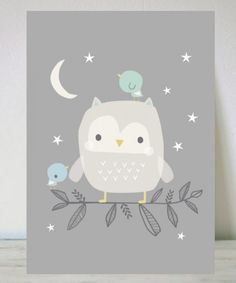 Owl Print by Dwan Machell for Menudos Cuadros