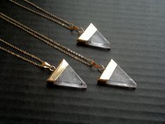 Clear Quartz Necklace Triangle Necklace Clear Quartz Pendant Geometric Necklace Clear Stone Necklace Clear Quartz Jewelry Geometric Jewelry by SinusFinnicus on Etsy https://www.etsy.com/listing/211284265/clear-quartz-necklace-triangle-necklace