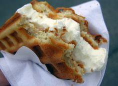 Hot Ice Cream Waffle