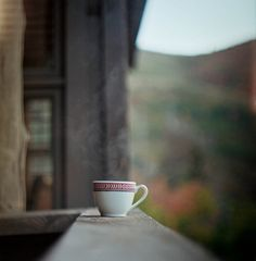 tea time, cups, early mornings, autumn, balconies, drink, morning coffee, mountain homes, cup of coffee