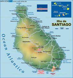 Map of Santiago (Cape Verde) #CapeVerde #TeamFunana #TeamCapeVerdean