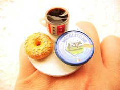 Your place to buy and sell all things handmade Types Of Plastics, Unique Recipes, Bagels, Miniature Food, Coffee Recipes, Cute Food, Dressing Room, Japanese Food, Coffee Cups