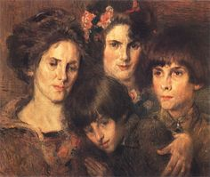 """Afetos"".  (1923). (by Eliseu Visconti)."