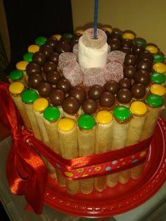 Torta de cuchuflies, barato, fácil y a los niños les encanta !