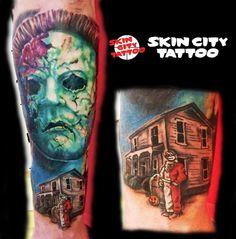 Custom Tattoo, Skull, Portrait, Tattoos, Color, Tatuajes, Headshot Photography, Tattoo, Colour