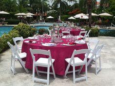 Poolside reception at Dreams Palm Beach in Punta Cana! #destinationweddings