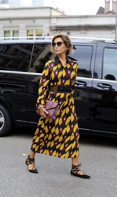 Sartorial ease on the streets during Milan Fashion Week.