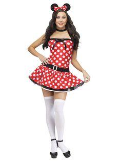 Sexy Maus Damenkostüm rot-weiss-schwarz  Kategorie: Sexy Damenkostüme - Tierkostüme! Heiße Verkleidungen und Outfits für #Karneval und die nächste Mottoparty! #Fasching #Fasnacht #Kostüm