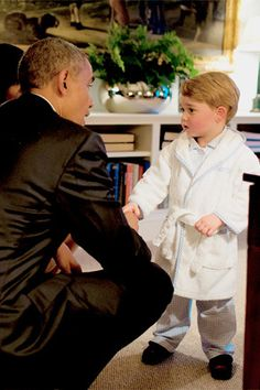 President Obama and Prince George