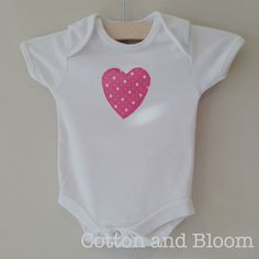 Soft Cotton Short Sleeved Vest with Appliqued by CottonandBloom