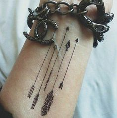 Arrows: Symbol of direction, love, strength,swiftness, my lucas and babes dif arrow design, more greek. placement on rib side left #arrowtattoosonback
