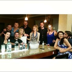 "Dan Feuerriegel - Erin McIntyre Instagram ""Aw some of my favs! So lovely seeing everyone. #regram #friends #spartacus"""