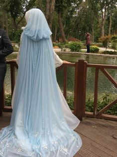 Sky Blue Bridal Cape
