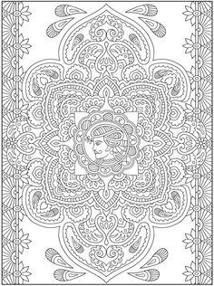 gedetailleerd is deze kleurplaat zeker, als je eens kijkt naar hoeveel lijntjes eigenlijk wel niet ziet!