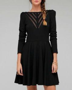 Dantelli siyah elbise
