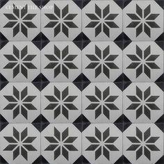 Cement Tile Shop - Encaustic Cement Tile Estrella Antigua Concrete Tiles, Cement, Garden Levels, Tile Wallpaper, Mosaic Bathroom, Encaustic Tile, Color Tile, Tile Patterns, Tile Floor