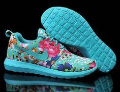 pretty nice 2c0d9 a15ac Aqua Blue Floral Nike Woman s Roshe Run Print London Olympics. Buy Shoes  Low Price