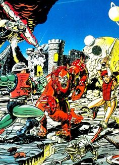 80s-90s-stuff:  vintage He-Man and the Masters of the Universe comic artwork, early 80s