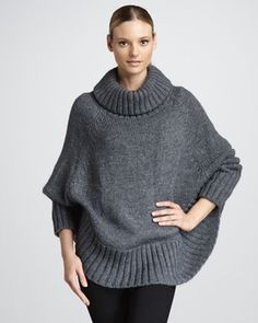 Portolano Knit Poncho in November Pre-Christmas 2012 from Neiman Marcus on shop.CatalogSpree.com, my personal digital mall.