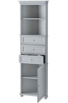 Hampton Bay Corner Linen Cabinet I Add Stylish Storage