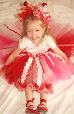 FANCY NANCY VALENTINE'S DAY TUTU by justsamantha on Etsy, $38.00