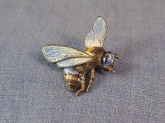 STERLING SILVER & GUILLOCHE ENAMEL ANTIQUE BUG BEE INSECT BROOCH c1900s WASP | eBay, sold for £175.00