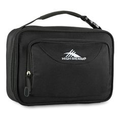 High Sierra Black Single Compartment Lunch Bag