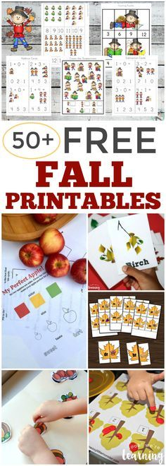 Over 50 Free Fall Printables for Kids!