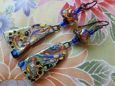 Magic Carpet Ride, Sumptuous Boho Earrings, Statement Earrings, Josephinebeads, DeeHowlBeads, Northernblooms