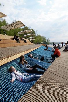 Waterfront walkway offers the opportunity for relaxation