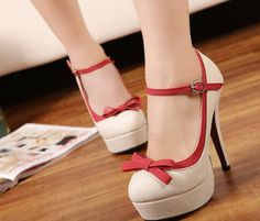 cute heels, and with straps.